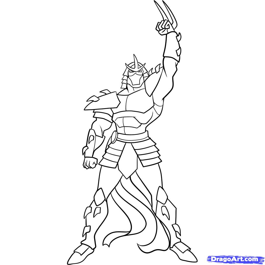 girl ninja turtles coloring pages - photo#17