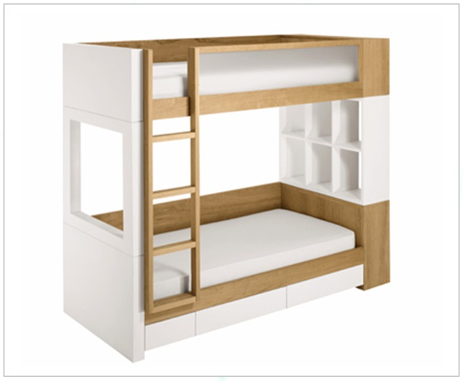 bunk bed with shelves interiorconcept philippines. Black Bedroom Furniture Sets. Home Design Ideas