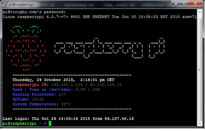 Inicio de raspberry pi motd