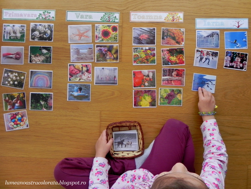 Cartonase in stil Montessori cu Anotimpuri