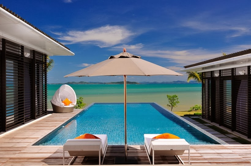 Swimming pool view in Contemporary villa in Phuket, Thailand