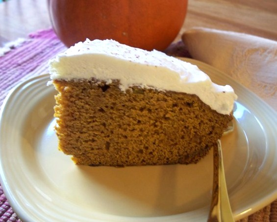Pumpkin Spice Cake With Honey Frosting Recipe — Dishmaps