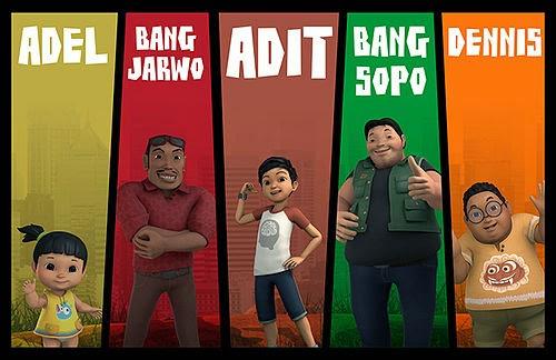 Tokoh-tokoh dalam Adit & Sopo Jarwo