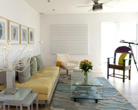 art chair with fish - Beach House Decor