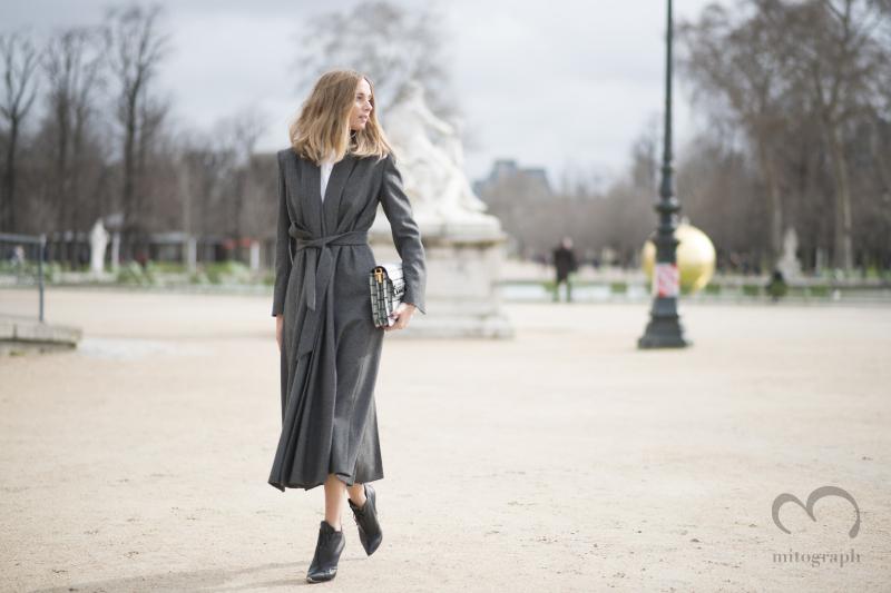 Model Candela Novvembre at Paris Fashion Week PFW
