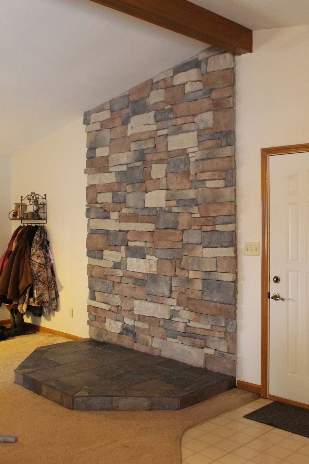 Completed hearth before stove installation. - All The Joy: DIY Hearth For A Wood Burning Stove