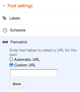 Custom Permalink - Tips SEO Posting Blog