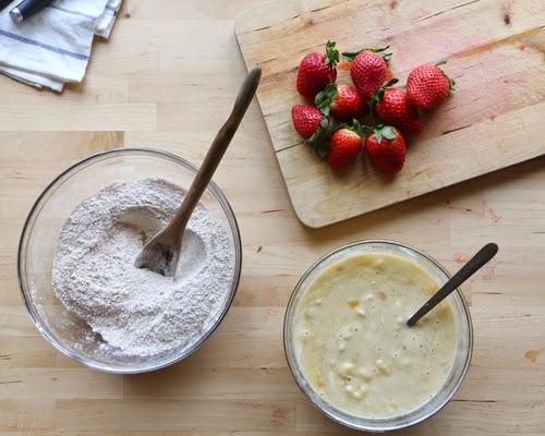 strawberry banana healthy muffin recipe