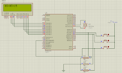 Real Time Clock using ATMega16