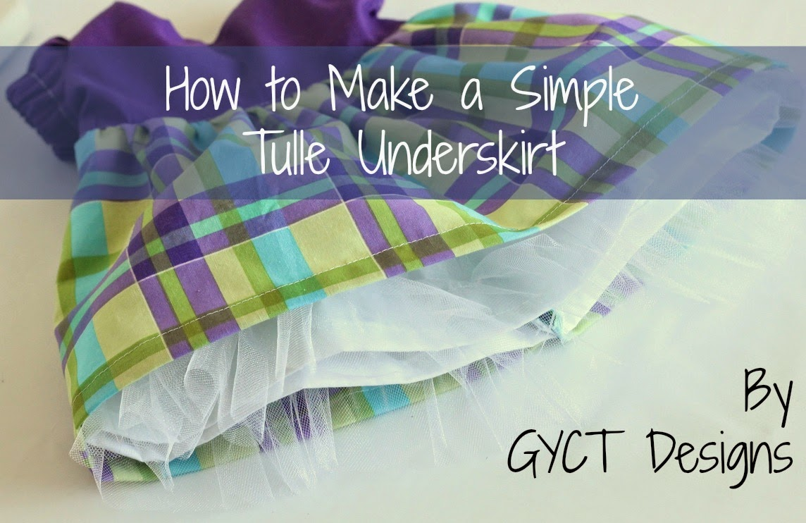 How to Make a Simple Tulle Underskirt by GYCT