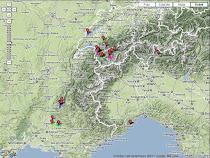 Carte des parcours VTT