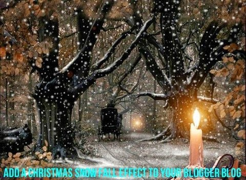 Add a Christmas Snow Fall Effect to your Blogger Blog
