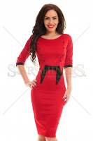 Rochie StarShinerS Whisper Red (StarShinerS)
