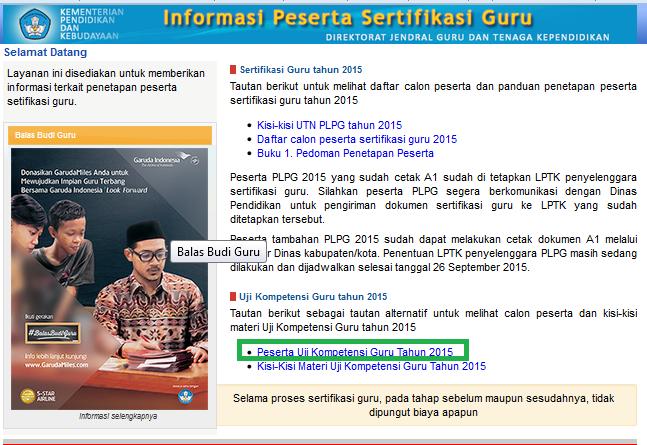 Cara Mudah Cek Lokasi Ukg 2015 Jawa Tengah Info Kepegawaian