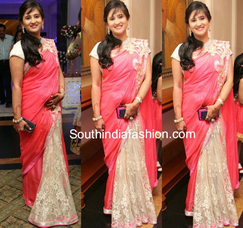 half and half saree models