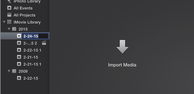 screen shot import media