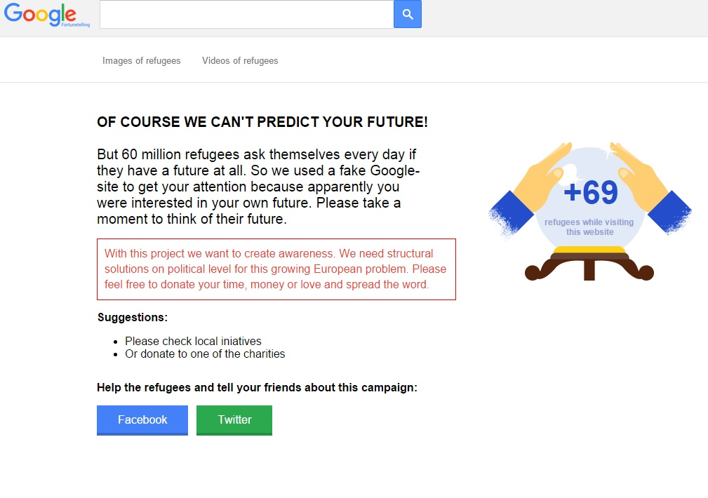 Google Fortune Telling: what does your future look like? - Results