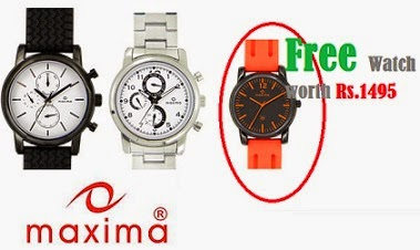 Flipkart Offer: Buy Maxima watches worth Rs.1499 or more and get a Maxima watch worth Rs.1495 Free