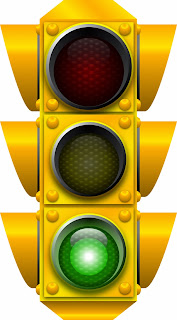 Traffic light signaling green