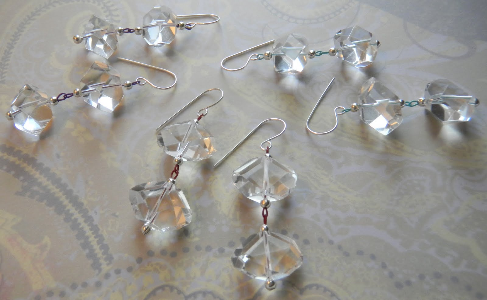 SoftFlexGirl: Free DIY Quartz Earring Idea by Jamie Hogsett