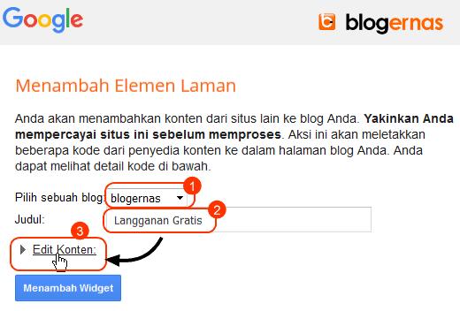 Cara Pasang Widget Langganan Tulisan di Blog