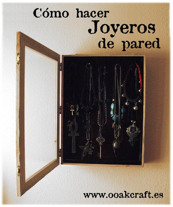 Ooak craft bisuter a y joyer a one of a kind hecha a mano - Como hacer un joyero de madera ...