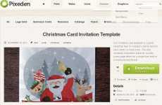 Plantilla de tarjeta de navidad para imprimir: Pixeden
