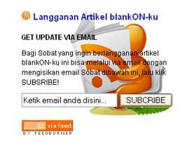 Tampilan Widget Berlangganan Artikel Blog Via Email