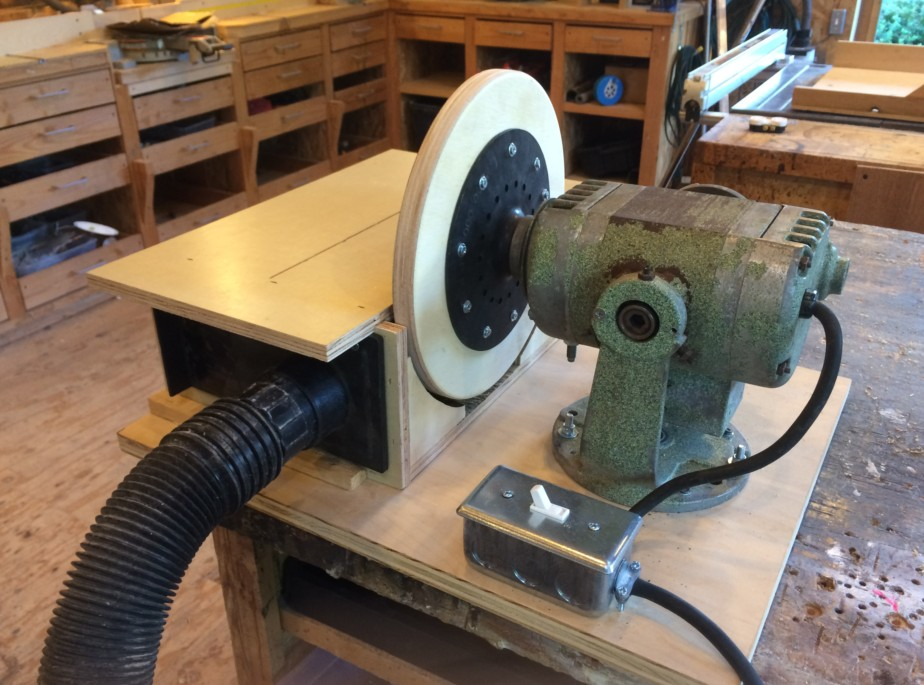 Tf workshop diy disc sander for 10 sanding disc for table saw