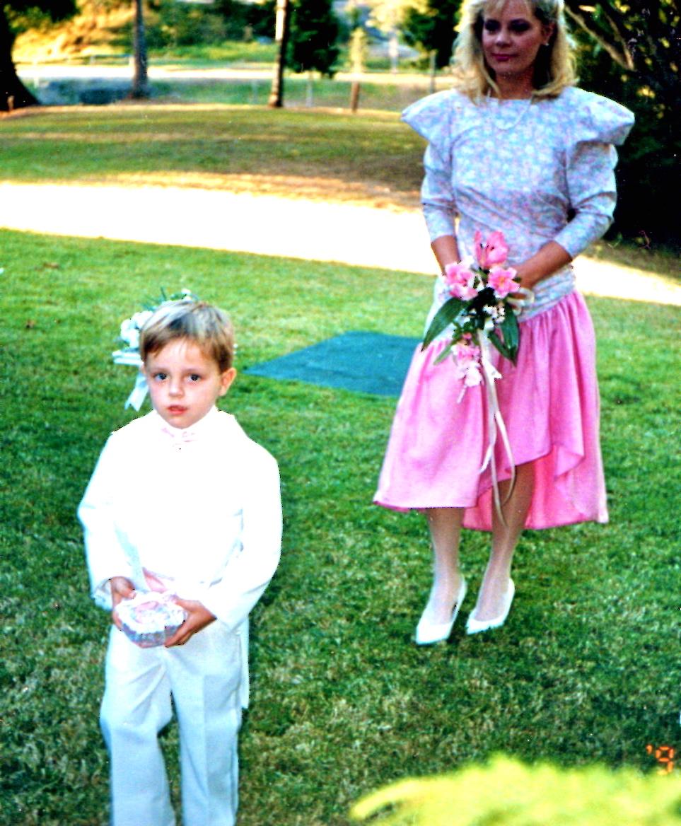 Chiffon short sleeves floor length bridesmaid cream wedding dress