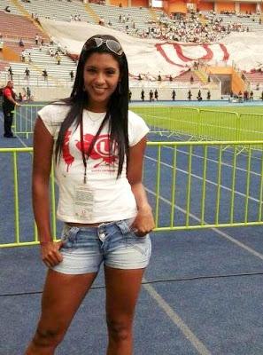 Rocío Miranda en el estadio