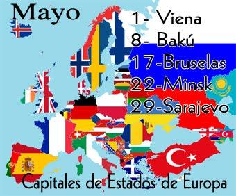 Estas son las capitales de este mes de mayo