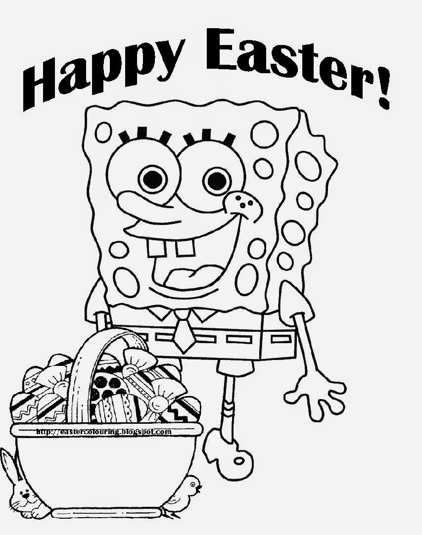 Easter coloring printouts - Easter Coloring Pages Free Large Images