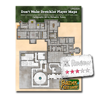 Frugal GM Review: Don't Wake Dretchlor Player Map from Gamer Printshop (PWYW)
