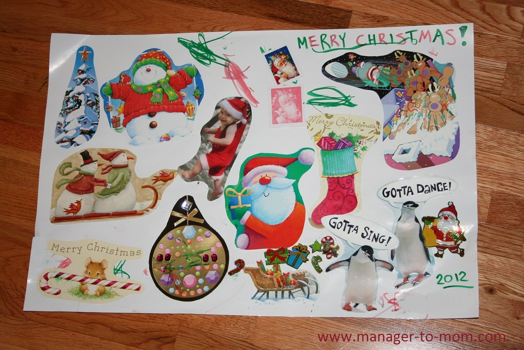 Manager to Mom: Old Christmas Card Collage - A Toddler and Kid ...