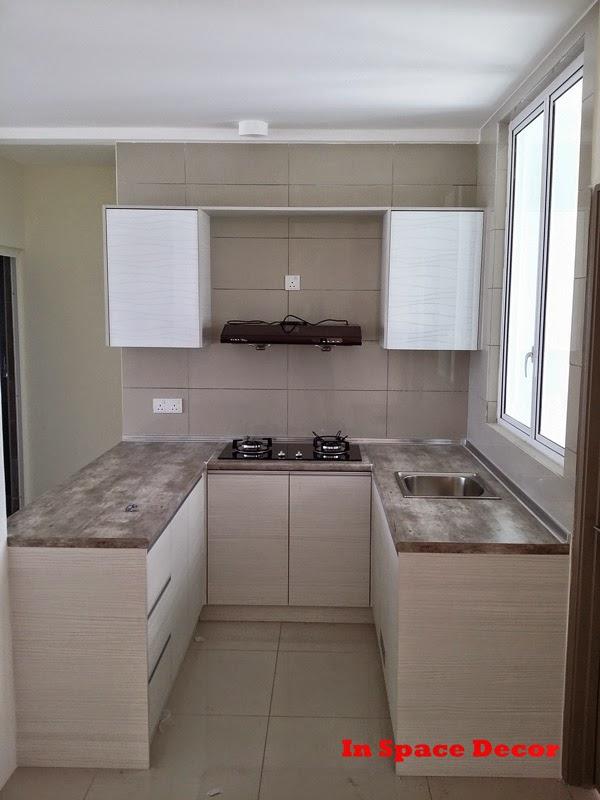 U-Shaped Kitchen Cabinet installed in Szta Park Danau Kota Kuala Lumpur
