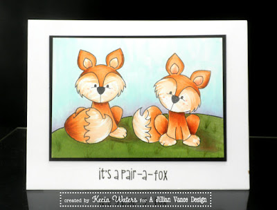 Whimsie Doodles, Kecia Waters, Copic markers, fox