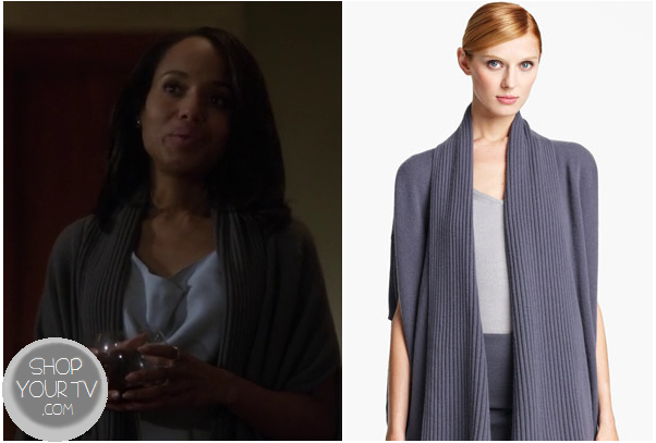 Scandal: Season 2 Episode 20 Olivia's Grey Ribbed Cardigan