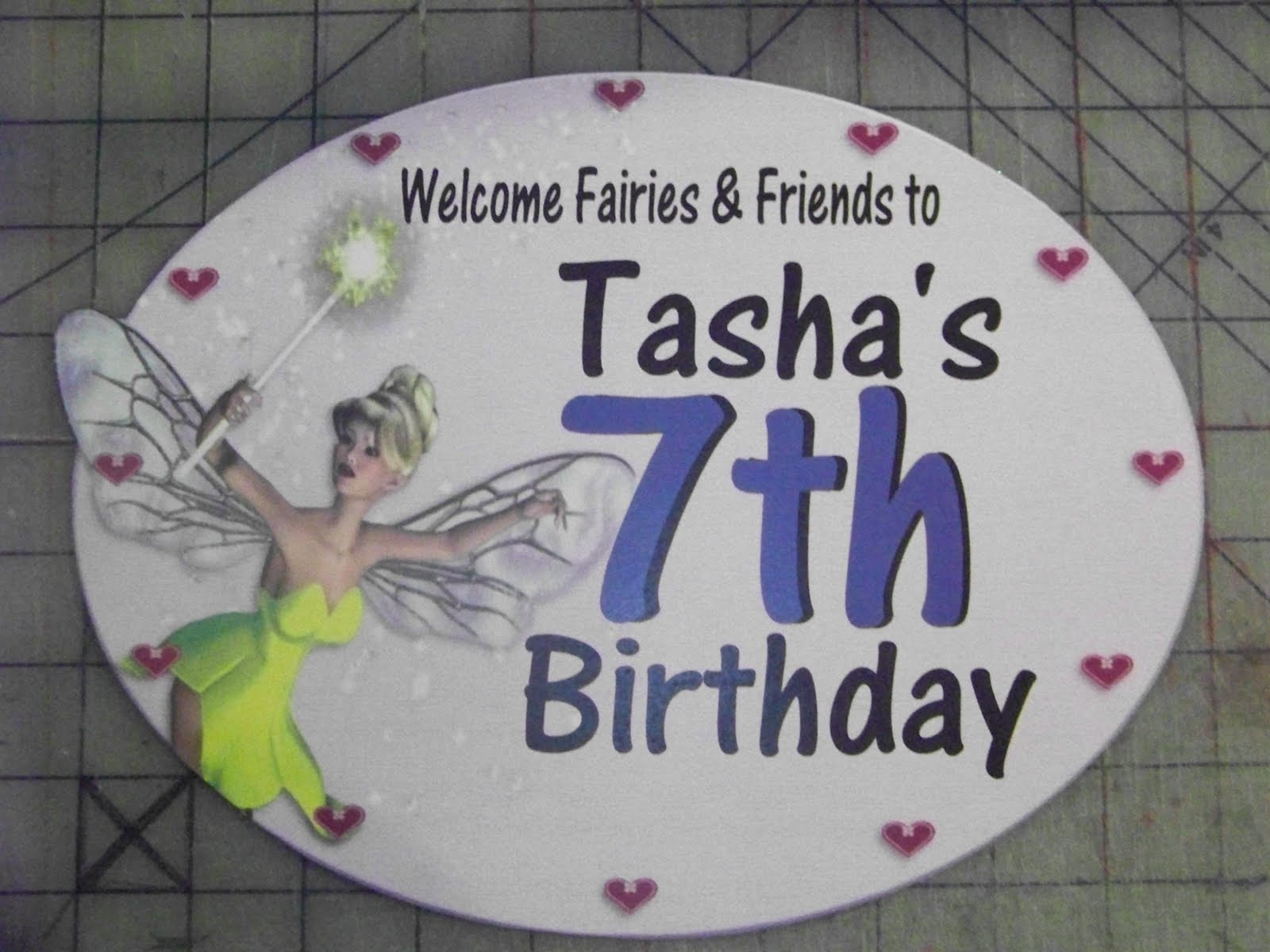 Tinkerbell fairy door welcome sign everyday parties for Tinkerbell fairy door