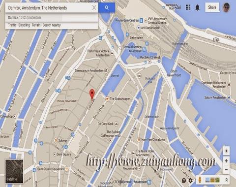 Amsterdam Damrak Map
