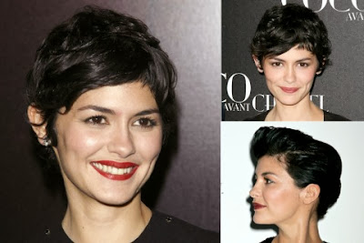 Audrey Tautou short haircut with bang