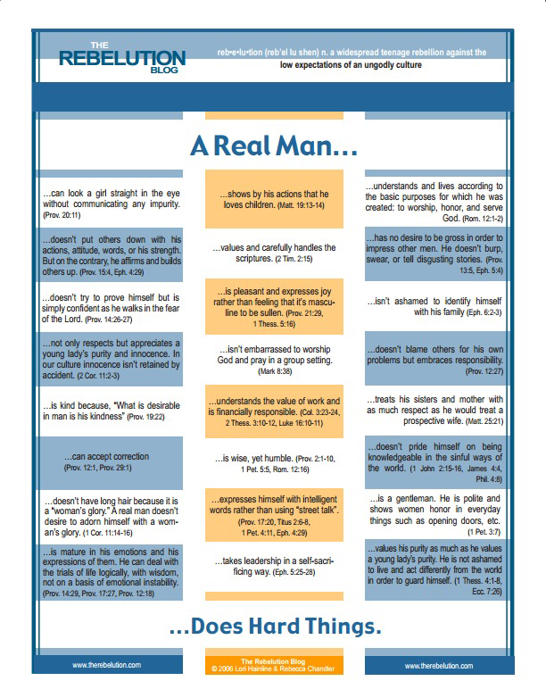 what it takes to be a real man
