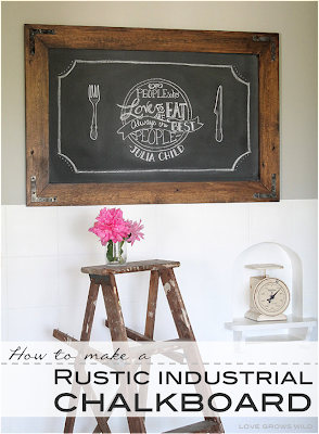 DIY Rustic Kitchen Chalkboard