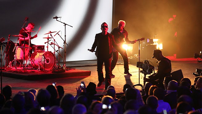 U2 bono edge larry mullen adam clayton the miracle single perform live apple