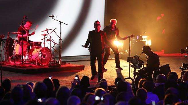 U2 bono edge larry mullen adam clayton the miracle single perform live apple