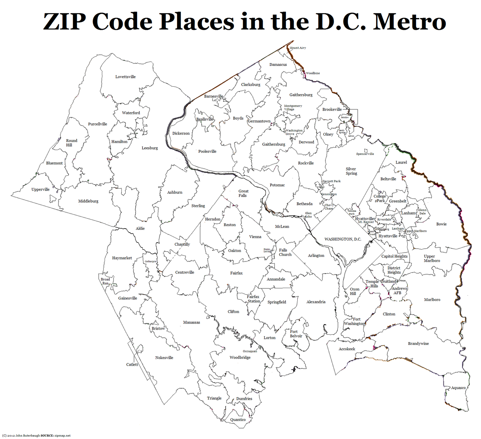 the process of making this map was simple but time consuming i took screenshots of zipmap net maps removed the colors and combined zip codes with the