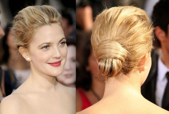 cara mengikat rambut pendek low neck bun