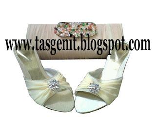 tas pesta clutch bag sandal pesta wanita set matching
