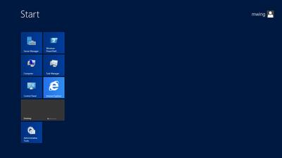 Windows Server 2012: Metro Start Screen
