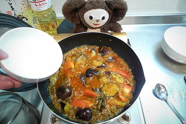 トマトの入った麻婆ナスの作り方(4)